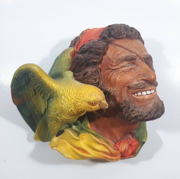 Vintage 1964 Bossons England Buccaneer Chalkware 3D Face Head Wall Decor