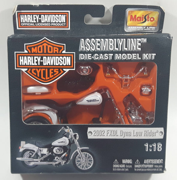 2004 Maisto Harley Davidson Assemblyline 2002 FXDL Dyna Low Rider 1:18 Scale Die Cast Model Kit New in Package