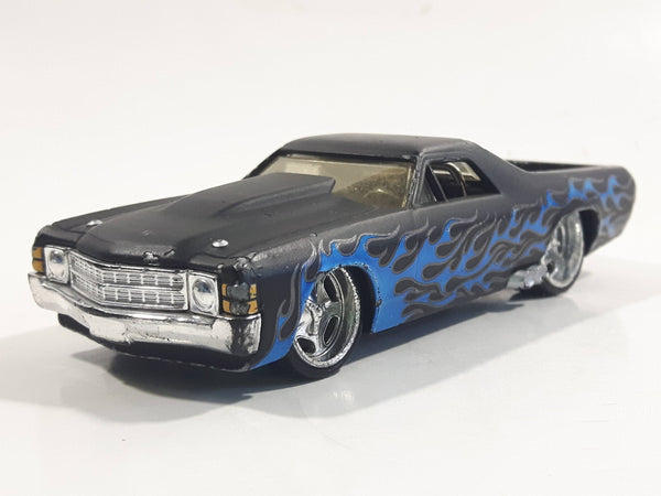 Hot Wheels G Machines '71 El Camino Black 1/50 Scale Die Cast Toy Muscle Car Vehicle with Rubber Tires - Missing the Rear Bumper
