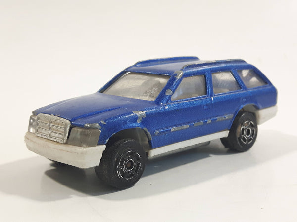 Majorette No. 250 Mercedes 300 TE Station Wagon Blue 1/63 Scale Die Cast Toy Car Vehicle with Opening Rear Hatch Door