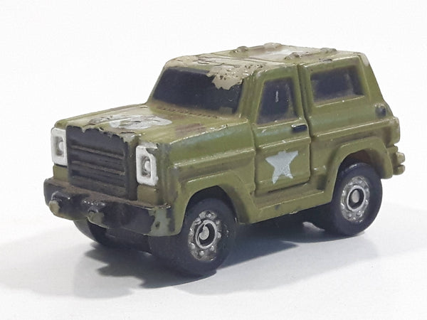 1987 Galoob Micro Machines Chevy Blazer Ford Bronco #18 Army Green Micro Mini Die Cast Toy Car Vehicle