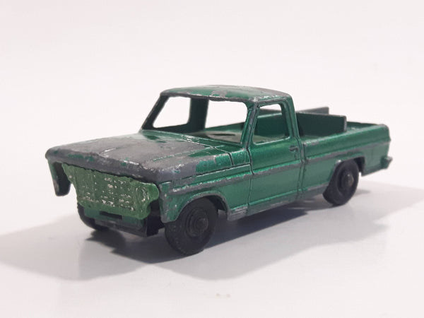 Vintage Lesney Matchbox Series No. 50 Kennel Truck Green Die Cast Toy Car Vehicle