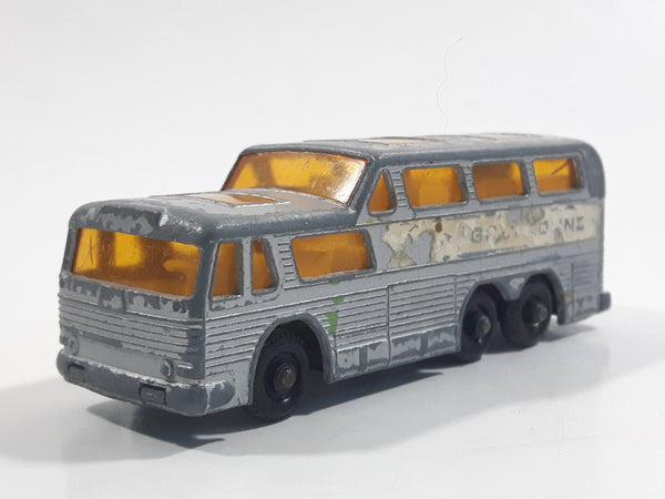 Vintage Lesney Matchbox Series No. 66 Greyhound Coach Bus Die Cast Toy Car Vehicle