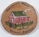 "Hollinger House Timmins, Ontario Hand Painted 2 1/2"" Wood Fridge Magnet"