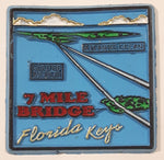 "7 Mile Bridge Florida Keys 1 3/4"" x 1 3/4""Rubber Fridge Magnet"