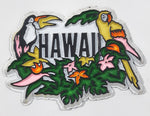 "Hawaii Toucan Parrot Birds and Flowers Themed 1 5/8"" x 2 1/4"" Rubber Fridge Magnet"