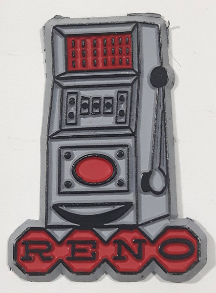 "Reno, Nevada Grey Slot Machine Shaped 1 1/2"" x 2"""" Rubber Fridge Magnet"