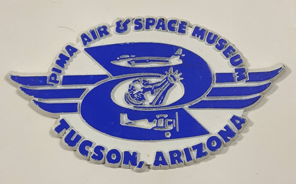 "Pima Air & Space Museum Tucson, Arizona Blue and White 1 5/8"" x 2 7/8"" Rubber Fridge Magnet"