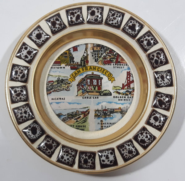 "Vintage SNCO San Francisco Cable Car and Landmark Themed 4"" Diameter Collectible Ashtray"