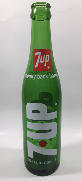 Vintage 7up Money Back Bottle 10 Fluid Ounces Green Glass Bottle 3589 - 17