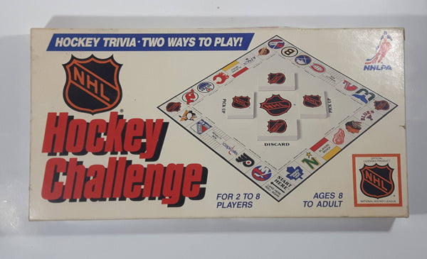 Vintage 1986 Infinity Games NHL Hockey Challenge Hockey Trivia Board Game in Box Near Complete