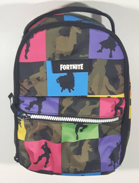 2019 Epic Games Fortnite Dancing Emote Silhouettes Colorful Small Lunch Tote Back Pack Shaped Carry Bag