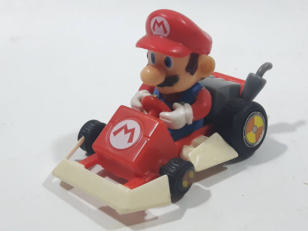 2005 Tomy Nintendo Mario Kart Mario Driving Go Kart Plastic Pullback Toy Car Vehicle - Missing a wheel