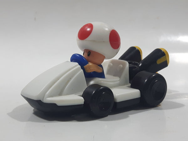 "2014 McDonald's Nintendo Mario Kart Toad Plastic 3"" Long Toy Character Car Vehicle"