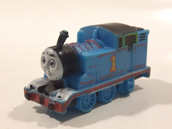 "Thomas & Friends #1 Thomas The Tank Engine 1 5/8"" Long PVC Hard Rubber Toy Vehicle"
