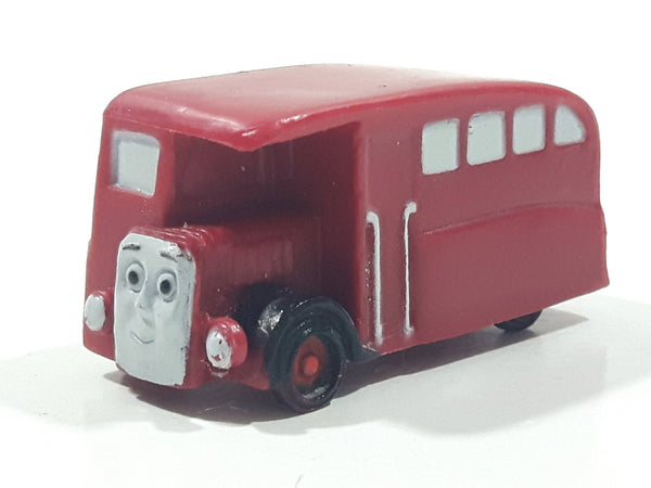 "Thomas & Friends Bertie The Bus Double Decker Red 1 5/8"" Long PVC Hard Rubber Toy Vehicle"