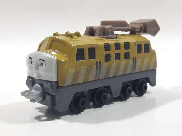 "2013 Mattel Thomas & Friends Diesel 10 Train Engine Locomotive Brown Beige 3 3/4"" Long Die Cast Toy Vehicle BHR74"