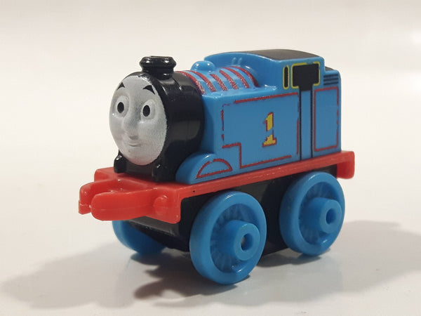 "2014 Thomas & Friends Minis #1 Thomas The Tank Engine Blue 2"" Long Plastic Die Cast Toy Vehicle CGM30"