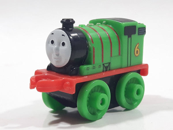 "2014 Thomas & Friends Minis #6 Percy Green 2"" Long Plastic Die Cast Toy Vehicle CGM30"
