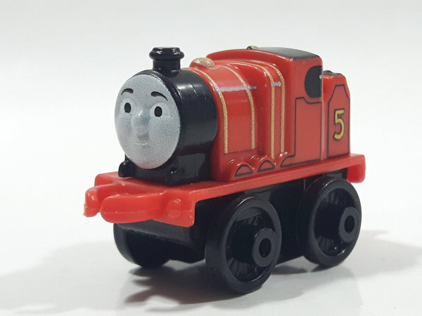 "2014 Thomas & Friends Minis #5 James Red 2"" Long Plastic Die Cast Toy Vehicle CGM30"
