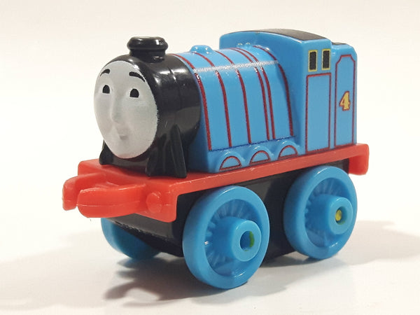 "2014 Thomas & Friends Minis #4 Gordon Blue 2"" Long Plastic Die Cast Toy Vehicle CGM30"