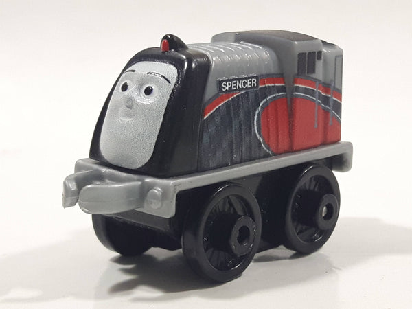 "2014 Thomas & Friends Minis Spencer Grey Red Black 2"" Long Plastic Die Cast Toy Vehicle CGM30"