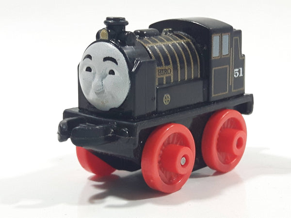 "2014 Thomas & Friends Minis #51 Hiro Black 2"" Long Plastic Die Cast Toy Vehicle CGM30"
