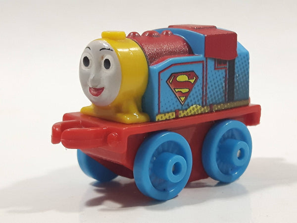 "2014 Thomas & Friends Minis DC Comics Rose Supergirl Blue 2"" Long Plastic Die Cast Toy Vehicle CGM30"