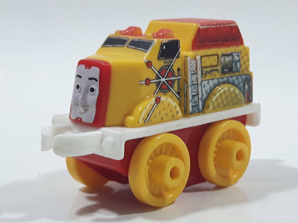 "2014 Thomas & Friends Minis Flynn Yellow and Red 2"" Long Plastic Die Cast Toy Vehicle CGM30"