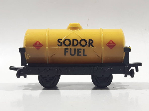 1993 ERTL Britt Allcroft Thomas The Tank Engine & Friends Sodor Fuel Yellow Tanker Train Car Plastic Toy Vehicle