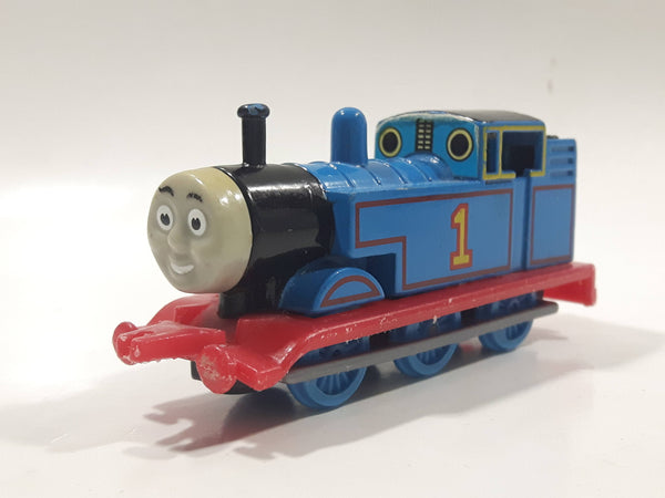 1995 ERTL Britt Allcroft Thomas The Tank Engine & Friends #1 Thomas Blue Train Engine Locomotive Die Cast Toy Vehicle