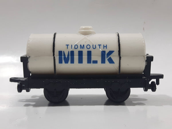 1993 ERTL Britt Allcroft Thomas The Tank Engine & Friends Tidmouth Milk White Tanker Train Car Plastic Toy Vehicle