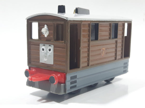 1989 ERTL Britt Allcroft Thomas & Friends #7 Toby Tram Brown Train Car Die Cast Toy Vehicle