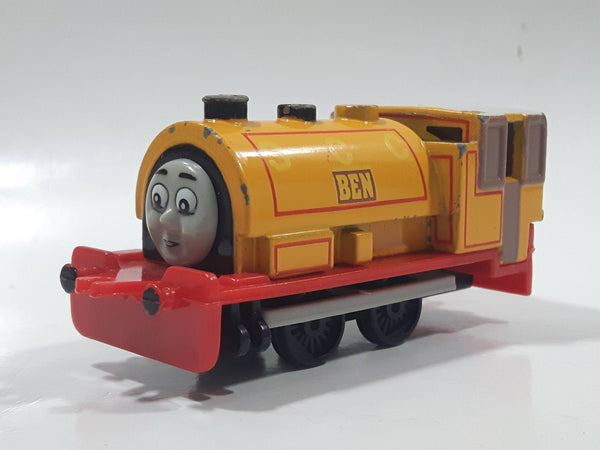 1991 ERTL Britt Allcroft Thomas The Tank Engine & Friends Ben S C C Yellow Train Engine Locomotive Car Die Cast Toy Vehicle