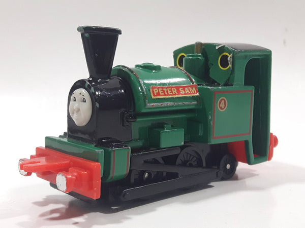 1995 ERTL Britt Allcroft Thomas The Tank Engine & Friends #4 Peter Sam Green Train Engine Locomotive Car Die Cast Toy Vehicle