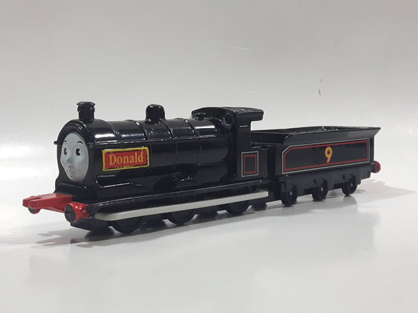 1992 ERTL Britt Allcroft Thomas & Friends #9 Donald Black Train Engine Locomotive Toy Vehicle
