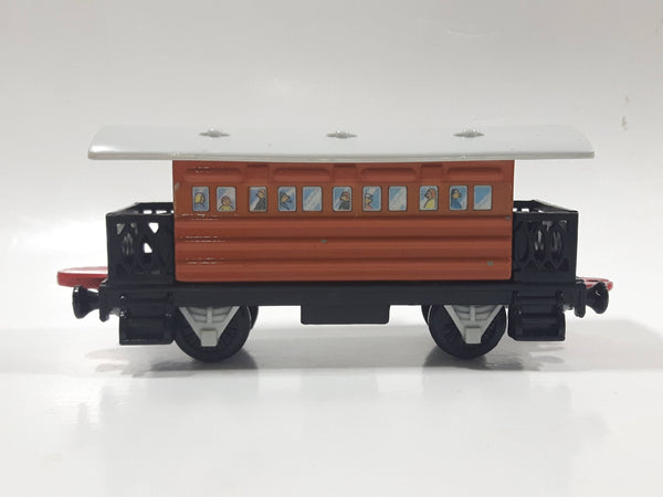 1992 ERTL Britt Allcroft Thomas & Friends Brown Passenger Train Car Plastic Toy Vehicle