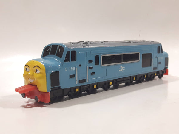 1995 ERTL Britt Allcroft Thomas The Tank Engine & Friends Diesel 199 Light Blue Train Engine Locomotive Car Die Cast Toy Vehicle