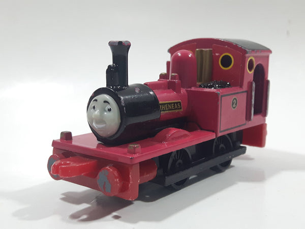 1995 ERTL Britt Allcroft Thomas The Tank Engine & Friends #2 Rheneas Pink Magenta Train Engine Locomotive Car Die Cast Toy Vehicle