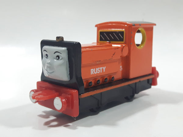 1995 ERTL Britt Allcroft Thomas The Tank Engine & Friends #5 Rusty Orange Train Engine Locomotive Car Die Cast Toy Vehicle