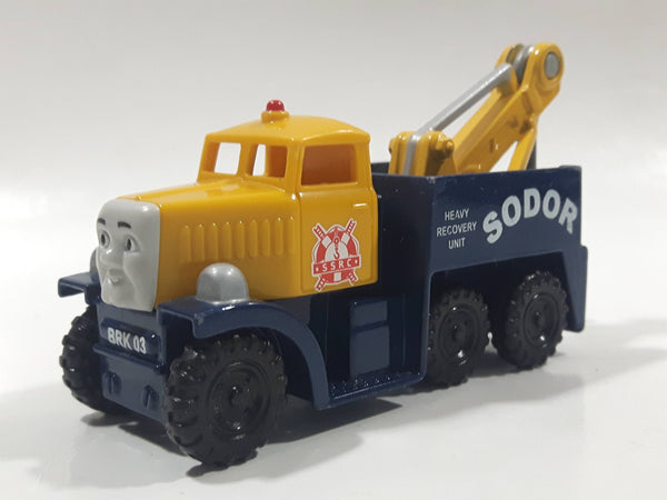 2012 Mattel Thomas & Friends Butch Sodor Tow Truck Yellow and Blue Die Cast Toy Vehicle V8976