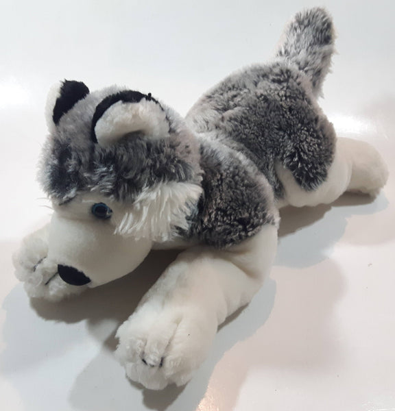 "2008 Animal Alley Husky Dog 13"" Long Stuffed Animal Plush Toy"