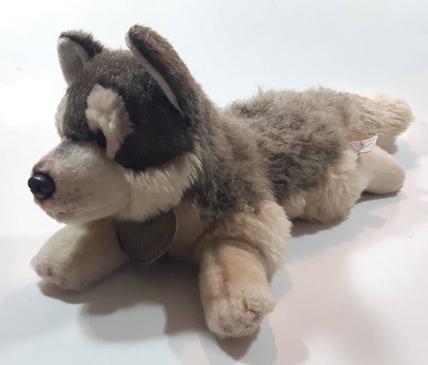 "Russ Berrie Yomiko Classics Husky Dog 15"" Long Stuffed Animal Plush Toy"