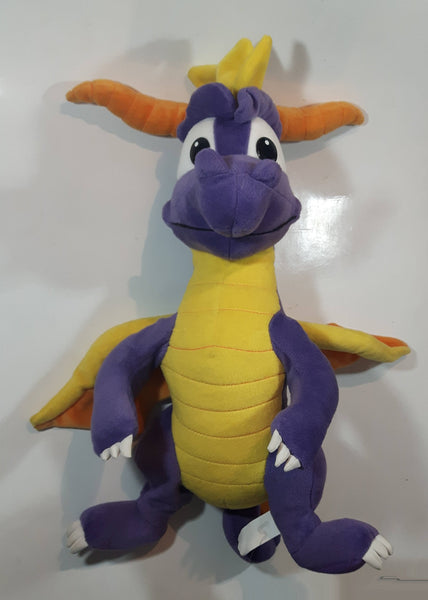 "2001 Universal Interactive Studios Play By Play Purple Spyro The Dragon Large 20"" Tall Stuffed Plush Toy PS1 Play Station 1 Video Game Character"
