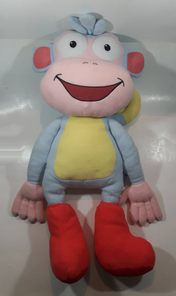 "2008 Nick Jr Dora The Explorer Boots Monkey Character 28"" Tall Stuffed Plush Toy Cartoon Character"