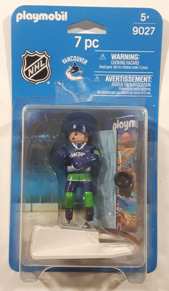 2015 Geobra Playmobil 9027 NHL Ice Hockey Vancouver Canucks Player Toy Figure 7 pc - No Stick