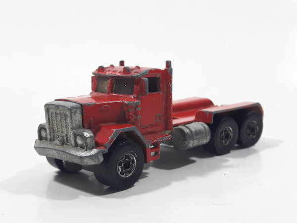 1989 Hot Wheels Peterbilt Dump Truck Semi Rig Red Die Cast Toy Car Vehicle - BW Malaysia