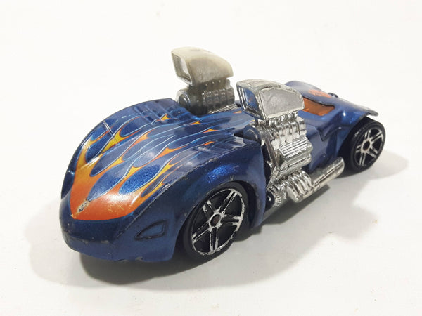 2005 Hot Wheels Wastelanders Twin Mill Hardnoze Dark Blue Die Cast Toy Race Car Vehicle