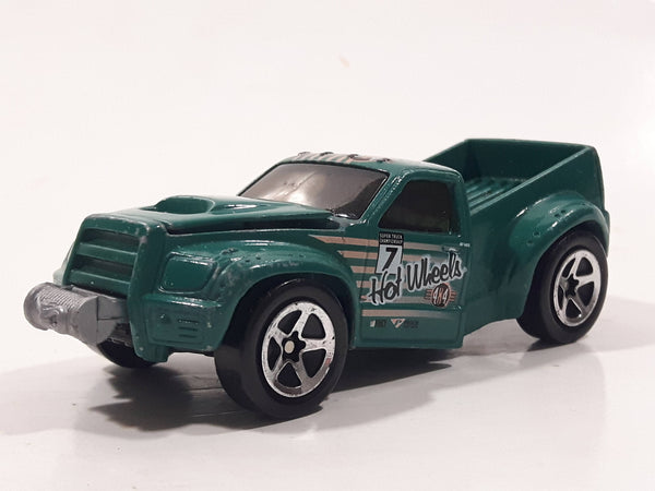 1999 Hot Wheels 4x4 Bending Green Truck Die Cast Toy Car Vehicle with Opening Hood