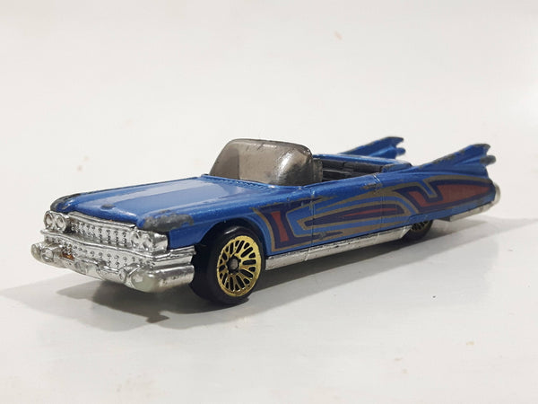 1997 Hot Wheels 1959 Cadillac Eldorado Convertible Blue Die Cast Toy Car Vehicle